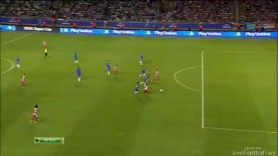 Гол Фалькао(2) Челси 0:2 Атлетико 31.08.12 HD