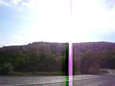 Гравитационная аномалия на дороге в Крыму