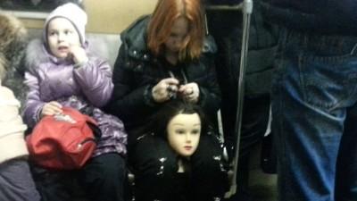 голова в метро
