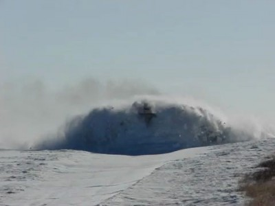 Очистка снега на жд путях