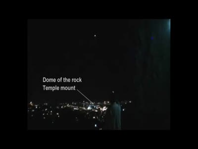 UFO - Dome of the rock - Temple mount - Jerusalem 28.01.2011