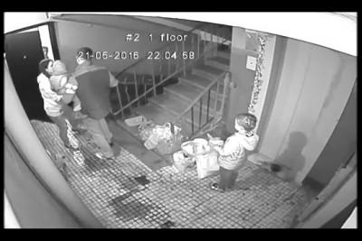 Пьяный сын президента торгово-промышленной палаты зверски избивает пожилых людей