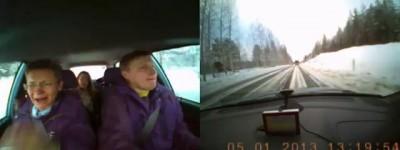 Дтп с лесовозом в Финляндии