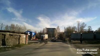 Авария в Златоусте Фура разлетелась 8.05.2013 Последствия