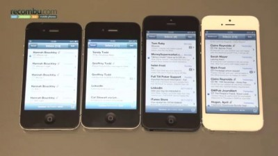 Apple iPhone 5 scrolling glitch demo