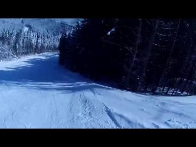Столкновение на лыжной трассе