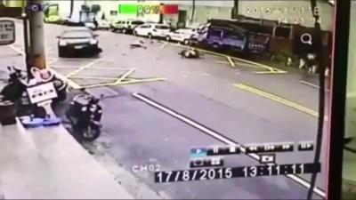 Бухой мотоциклист прокатился с огоньком