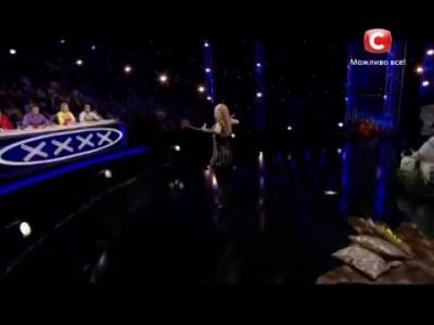 Стреляющая вагина. Анна Корбан - Україна має талант-6