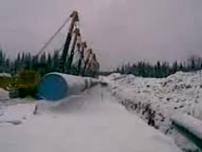Прокладка нефтепровода на дальнем востоке