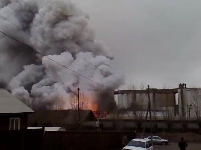 Взрыв склада пиротехники