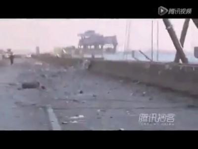 В Китае взорвался грузовик с пиротехникой (1 видео )