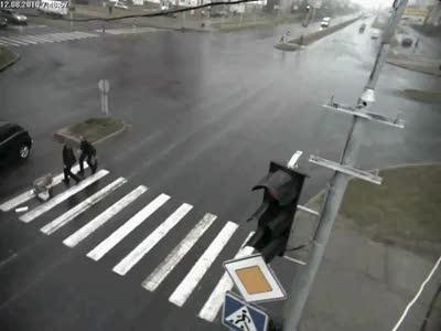 ДТП на пешеходнике город Сургут.