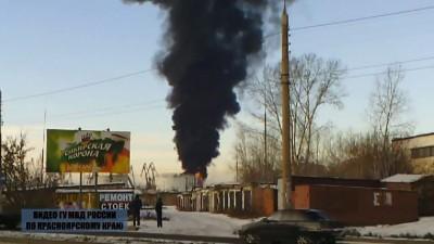 Пожар в Красноярске 3