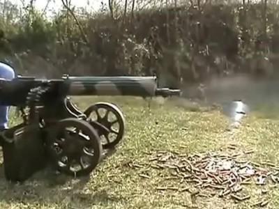 Стрельба из пулемёта МАКСИМ