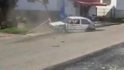 Авария на ралли в Венгрии .
