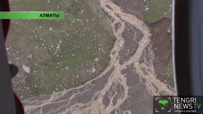 Последствия селя в Алматы. Вид сверху