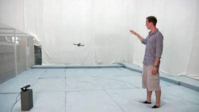 Interaction with a Quadrotor via the Kinect