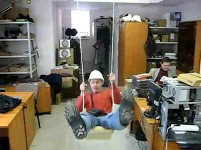 Качели в офисе
