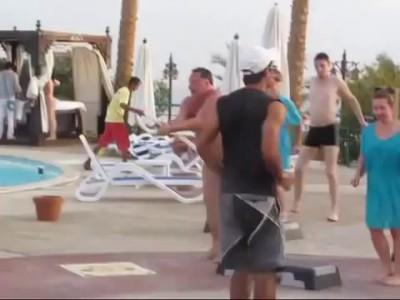 Разминка русских туристов в Египте