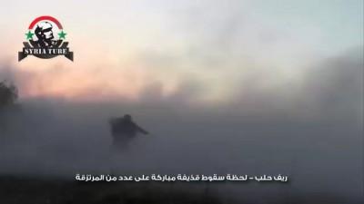 ادلب - قذيفة مدفع مباركة تمزق خطوط المرتزقة