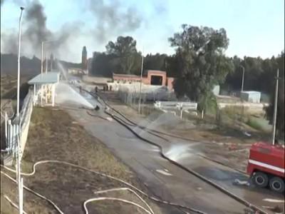 """Ексклюзивне відео з пожежі на нафтобазі """"БРСМ-нафта"""""""