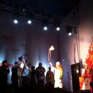 Первый олимпийский огонь в Екатеринбурге