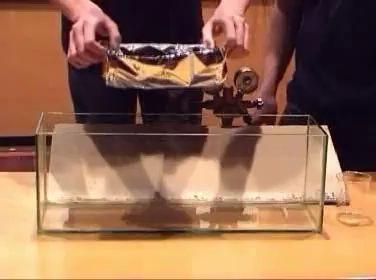 Эксперимент с гексафторидом серы