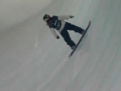 Падение сноубордиста