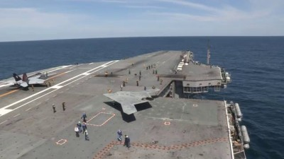 X-47B Completes First Carrier-based Launch (Long) 3