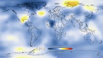 Аномалии глобальной температуры 1880-2012