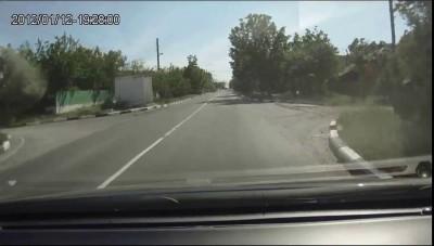 У тягача с бульдозером отказали тормоза