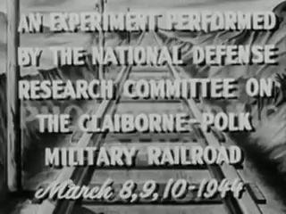 Железнодорожная авария эксперименты, чтобы пустить под откос поезда видеозапись архива Второй ми