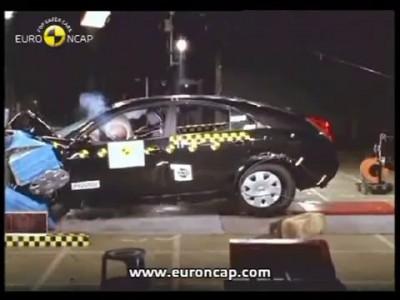 Краш-тест - Nissan Primera 2002 (E-NCAP)