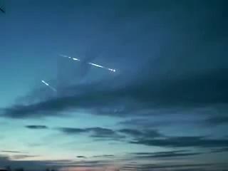 [REAL] Приземление боеголовок ядерной ракеты.