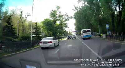 Авария в Алматы 28.04.2016