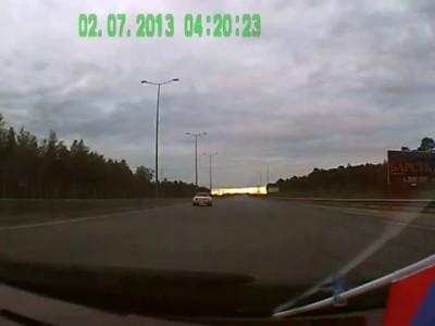 ДТП при въезде в Сургут со стороны аэропорта