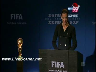 Елена Исимбаева - речь 2 декабря 2010 на конгрессе ФИФА