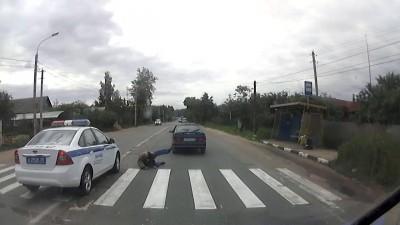 Наезд на пешехода полицией