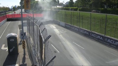 RC Enerson Incident During 2015 GP of Toronto Indy Lights Race