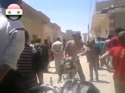 Сирия. Абу Камаль. Террористы пытаются поделить наркотики 24.04.2014