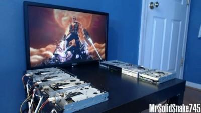 Duke Nukem Theme on eight floppy drives