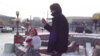 Самый высокий жених Бишкека и самая низкая невеста