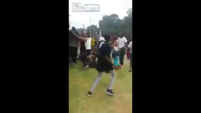 100 pepole involved in fight