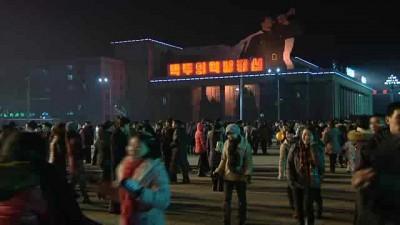 Новогодний фейерверк в Пхеньяне - 2014