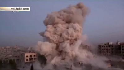 ФАБ-500 пробивает бетонные перекрытия на глазах боевика ИГИЛ