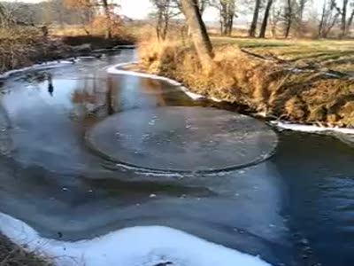 Крутящийся круг на воде
