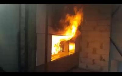 Fiber-cement panels firetest
