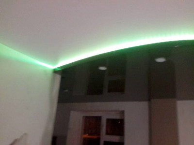 2х уровневый потолок, подсветка