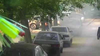 Машина. Возгорание
