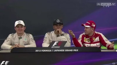 F1 2015 Japanese GP - Vettel Jokes, Rosberg Gets Angy
